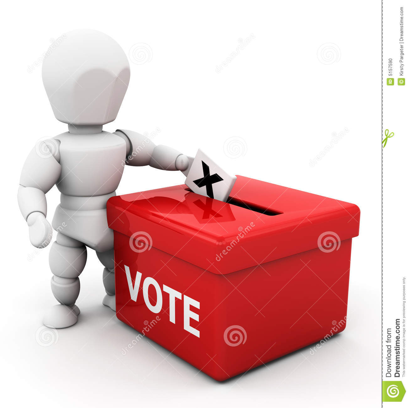 3d Render Of Someone Voting