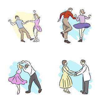 50 S Dance Clip Art Http   Dance Lovetoknow Com Fifties Dance Clip Art