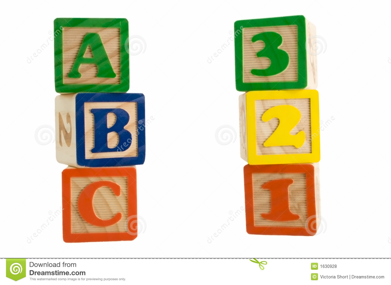 Abc 123 Blocks Royalty Free Stock Photos Image 1630928