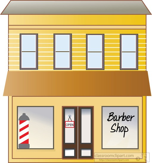 Barber Shop Building Store Front Clipart 8023g Classroom Clipart