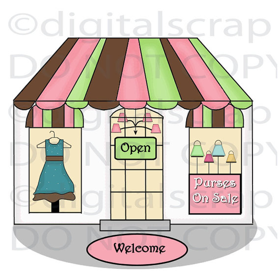 Boutique Shop Clipart - Clipart Suggest