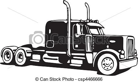 Clip Art Vector Of Truck Csp4466666   Search Clipart Illustration