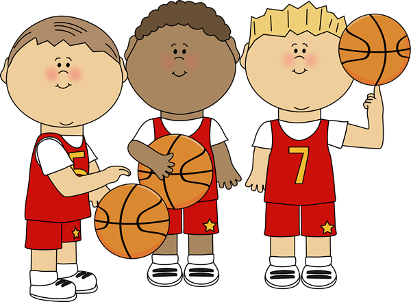 Clipart Basketball Kids Little Kids Playing Basketball Clipart