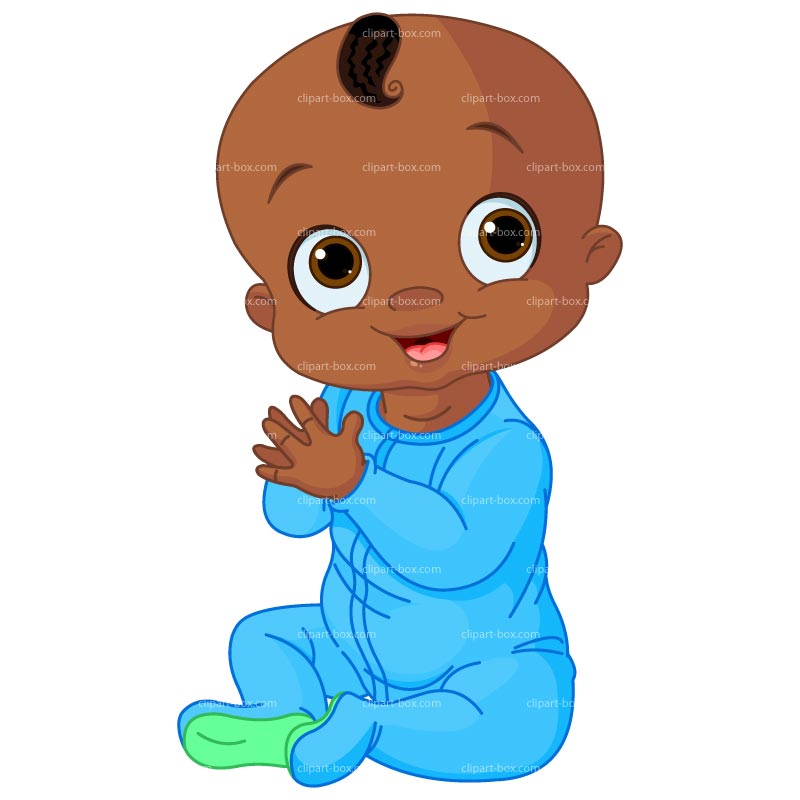 Black Baby Clipart - Clipart Kid