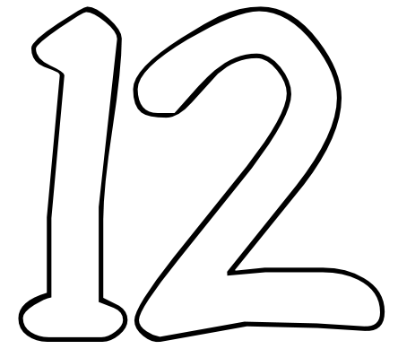 12 Number Clipart - Clipart Suggest