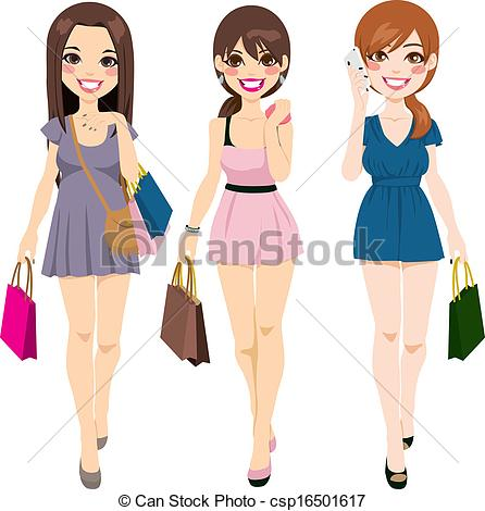 Girls In    Csp16501617   Search Clipart Illustration Drawings And