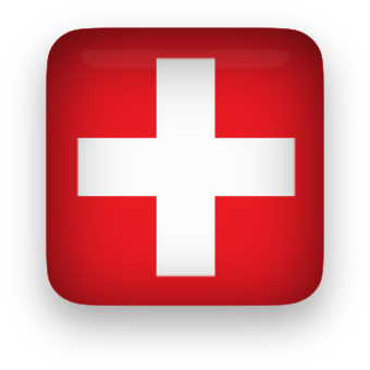 Glassy Switzerland Flag Clipart   Png