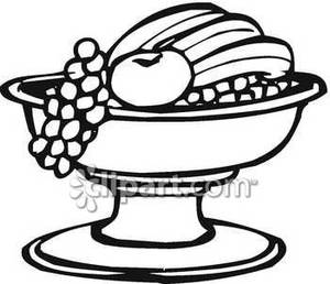 Grapes Clipart Black And White Black And White Fruit Bowl With Grapes