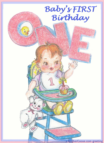 One Year Old Baby Greeting Clip 2 Happy Birthday Baby Send A Baby