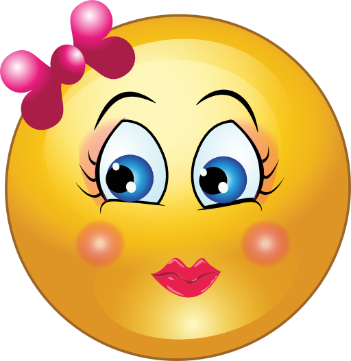 Pretty Girl Smiley Emoticon Clipart   I2clipart   Royalty Free Public