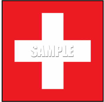 Royalty Free Switzerland Flag Clipart