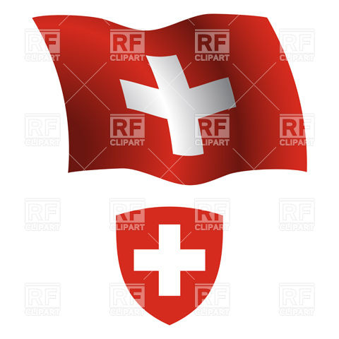 Switzerland Flag And Coat Of Arms 20796 Download Royalty Free Vector