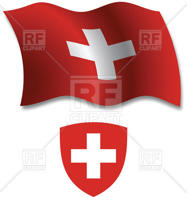 Switzerland Textured Wavy Flag And Coat Of Arms Download Royalty Free