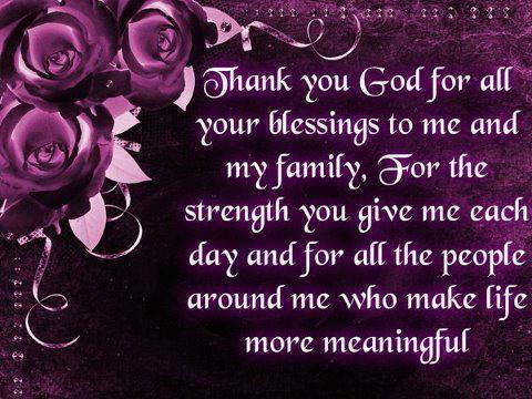 Thank You God For All My Blessings Quotes   Quotes   Sayings   Phrases