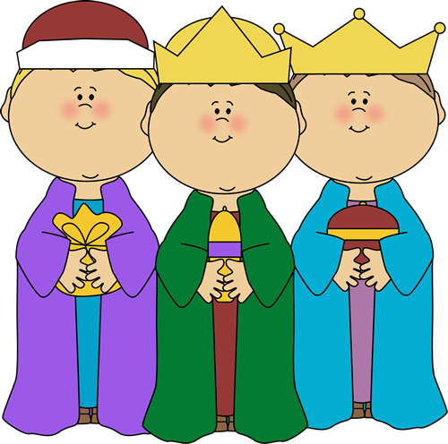 Three Wise Men Clip Art   Three Wise Men  Each Holding A Gift Of