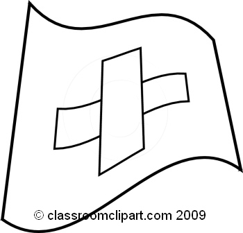 World Flags   Switzerland Flag Bw   Classroom Clipart