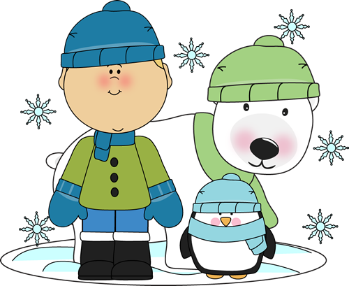 Boy With Penguin And Polar Bear Clip Art   Boy With Penguin And Polar