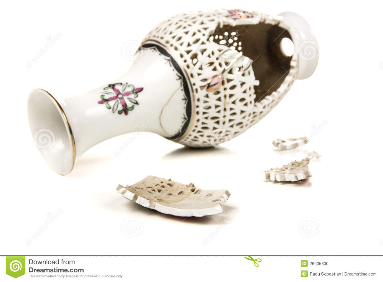 Broken Vase Stock Photo   Image  26035830