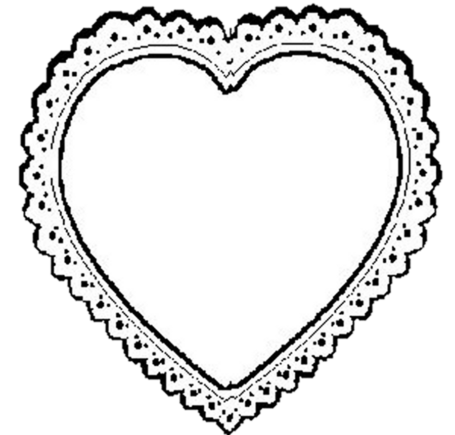 Bw Lace Heart Png By Bnspyrd   Clipart Panda   Free Clipart Images