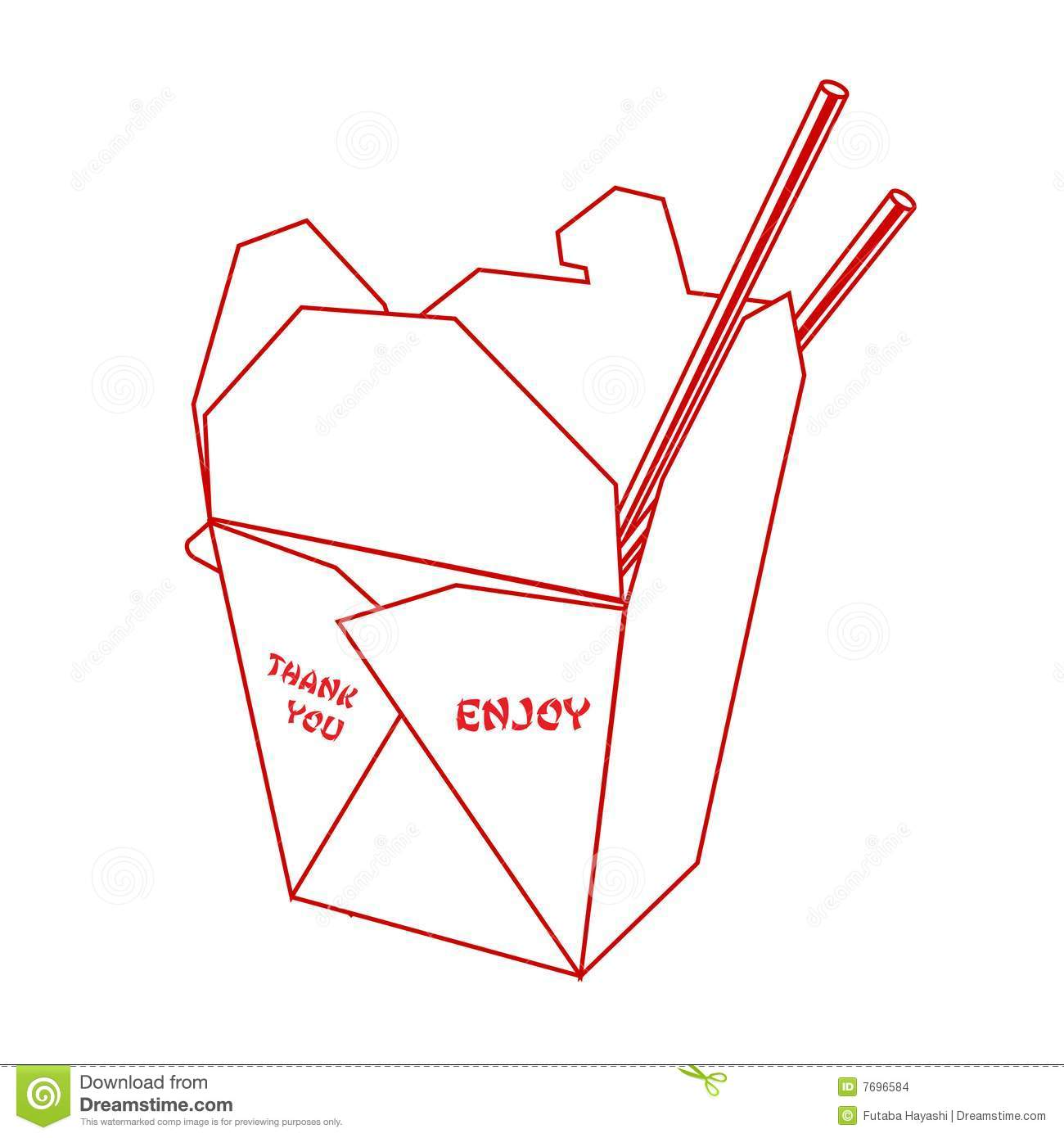 Chinese Takeout Clipart Chinese Takeout Box Stock