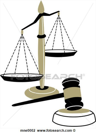 Clip Art   An Illustration Of The Scales Of Justice And A Judges Gavel