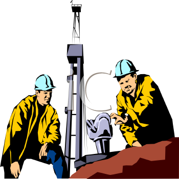 Clipart 0511 1001 1605 1441 Roughnecks Working On An Oil Well Clipart