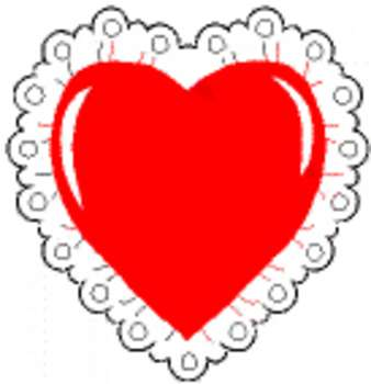 Free Clip Art Picture Of A Heart With A Lace Border