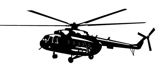 Helicopter Black And White Clipart - Clipart Suggest