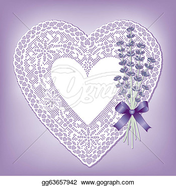 Lace Heart Doily Sweet Lavender  Stock Clipart Gg63657942