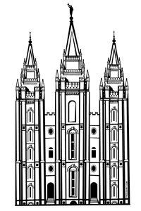 Lds Temple Clipart - Tumundografico