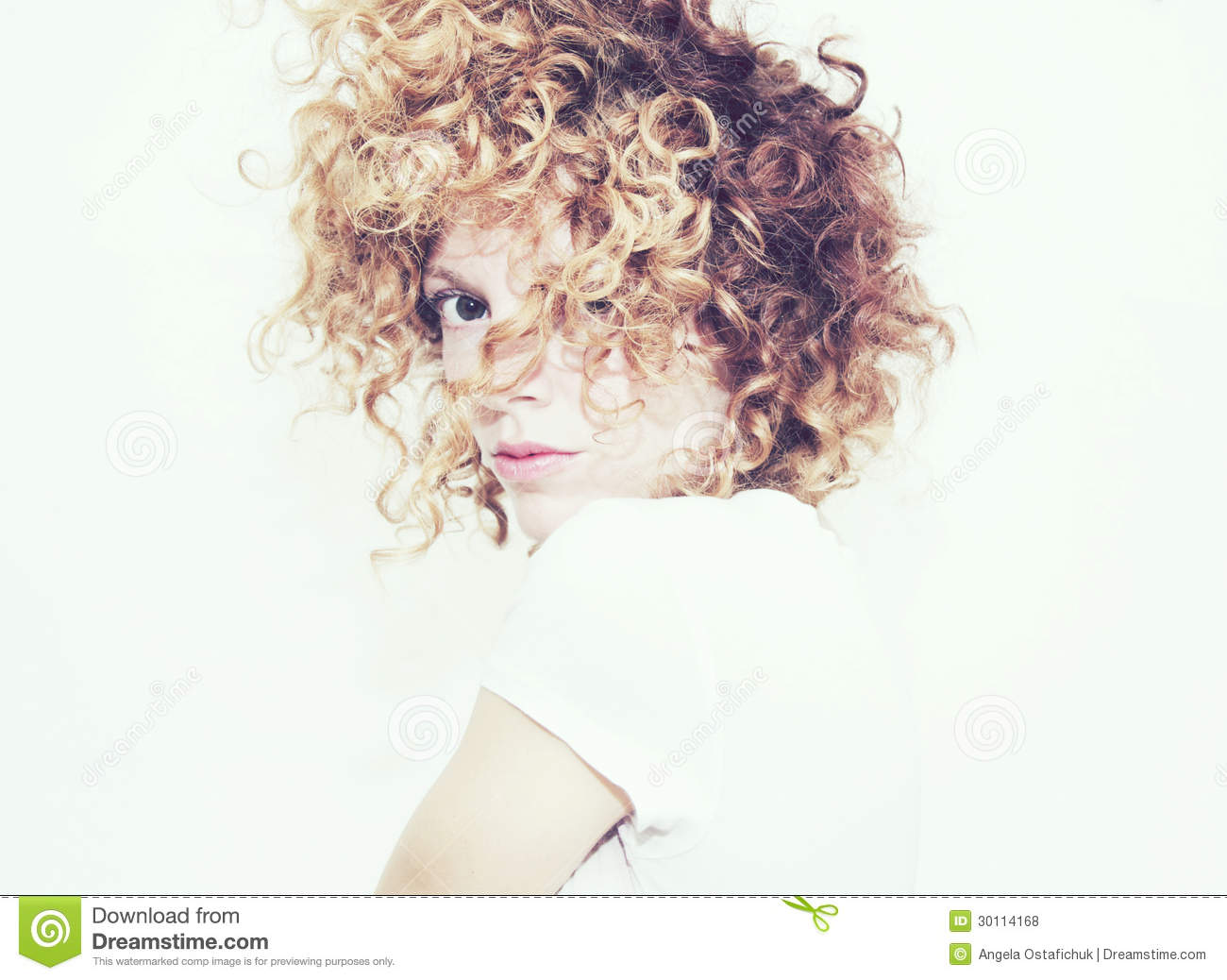 Messy Curls Royalty Free Stock Photos   Image  30114168