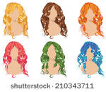 Messy Hair Clip Art Vector Messy Hair   412 Graphics   Clipart Me