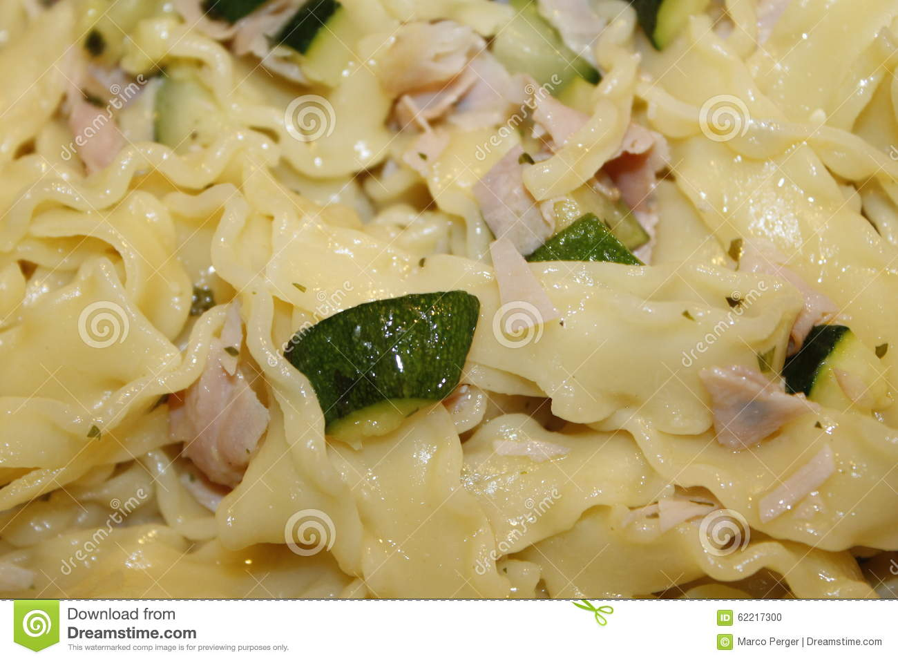 Noodles With Ham And Zucchini