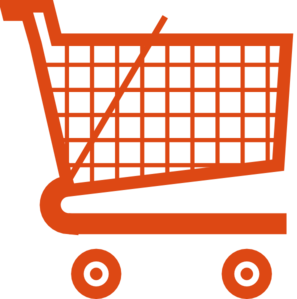 Orange Shopping Cart Clip Art At Clker Com   Vector Clip Art Online
