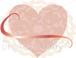 Pink Lace Heart Clipart