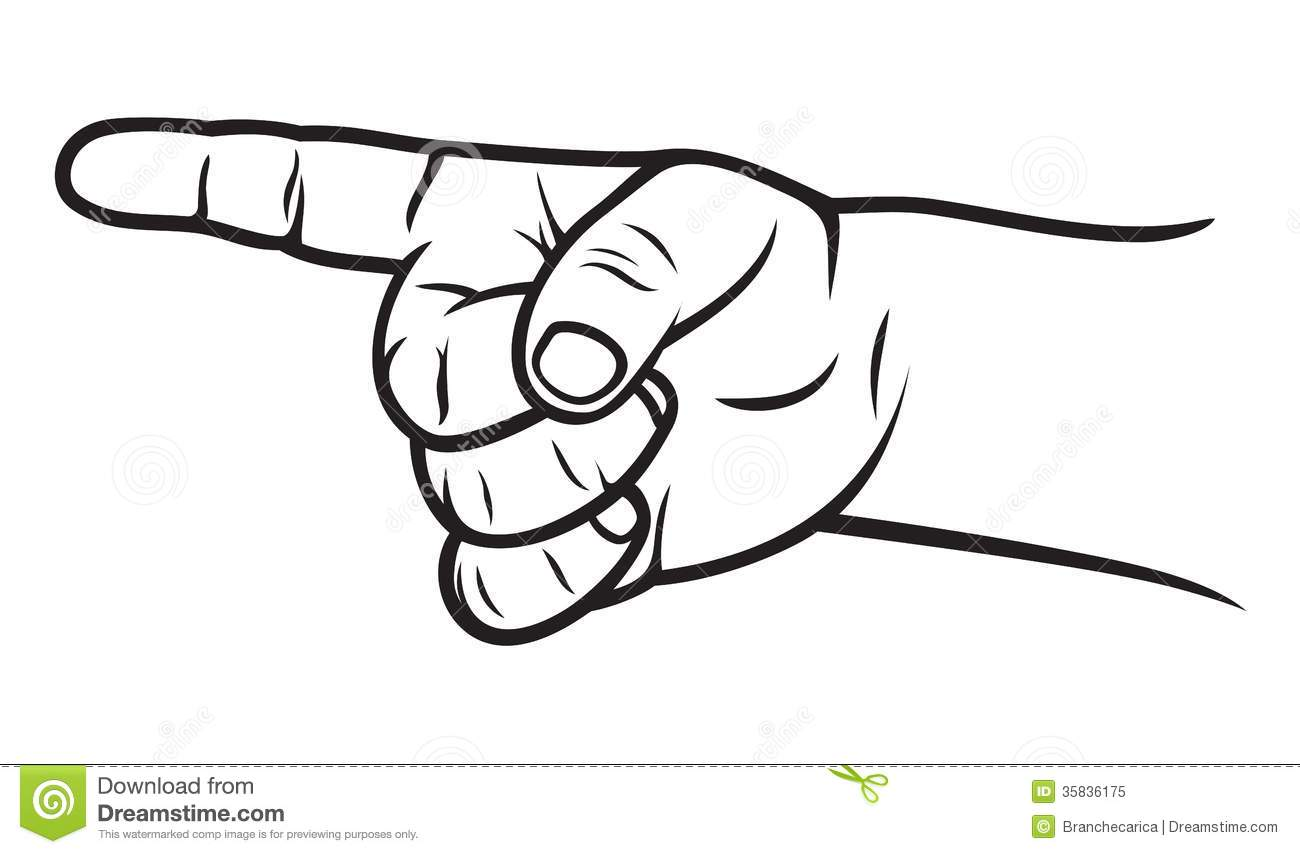 Clip Art Pointing Finger - Synkee