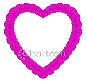 Purple Lace Heart   Royalty Free Clipart Picture