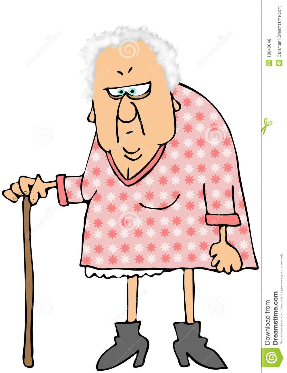 Cranky Old Lady Clipart - Clipart Suggest