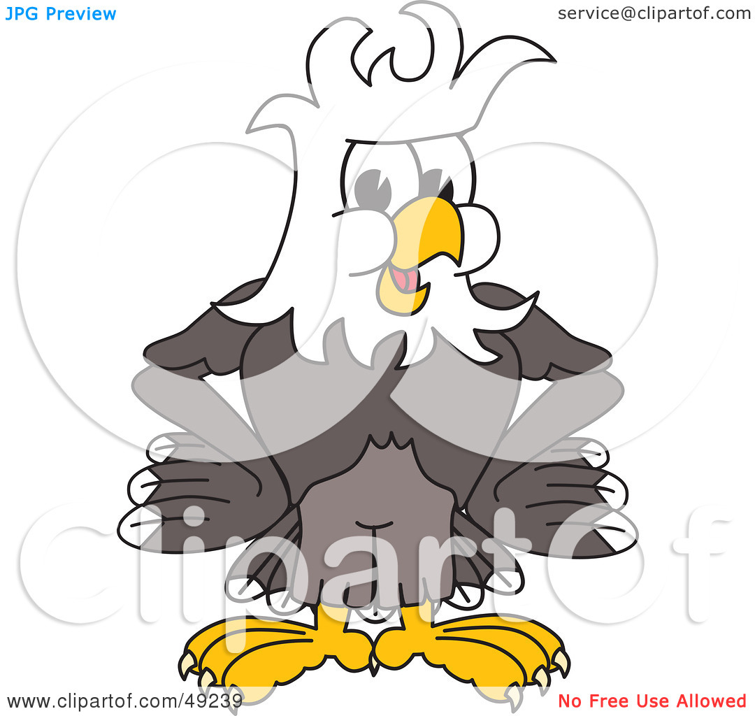 Rf  Clipart Illustration Of A Bald Eagle Character With Messy Hair