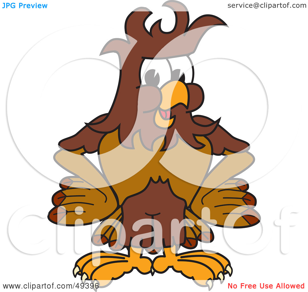 Rf  Clipart Illustration Of A Falcon Mascot Character With Messy Hair