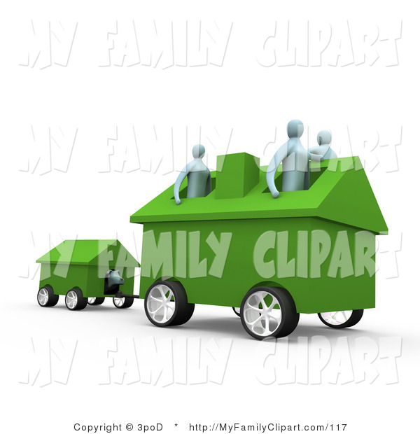 Royalty Free Family Clip Art Of A Relocating Family Moving