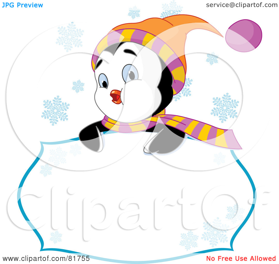 Royalty Free  Rf  Clipart Illustration Of A Cute Winter Penguin