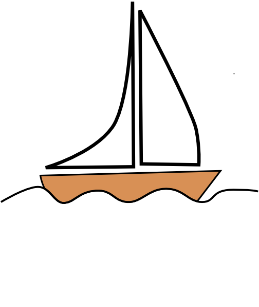 Sailboat 1 Clip Art