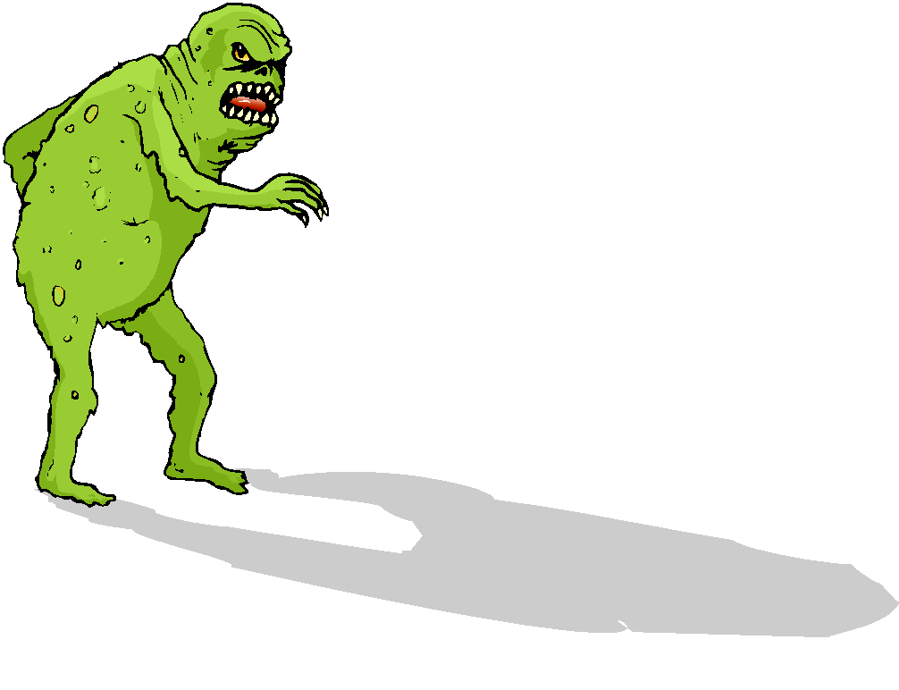 Scary Green Monster Free Clipart   Free Microsoft Clipart