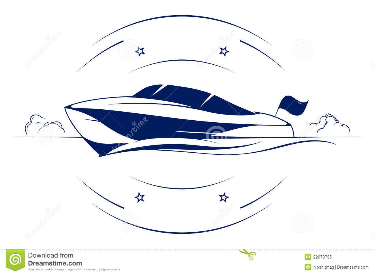 Speed Boat Clip Art Images   Frompo   1