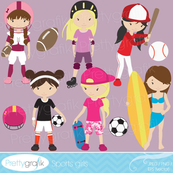 Girl Sports Clipart - Clipart Kid