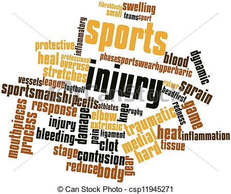 Stock Illustration   Word Cloud For Sports Injury   Stock Illustration
