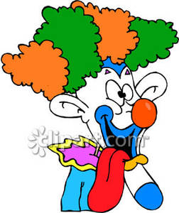 Wacky Clown   Royalty Free Clipart Picture