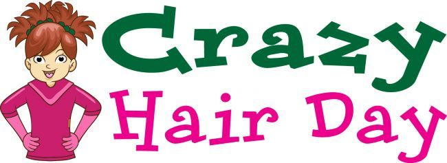 Image result for crazy hair day clip art