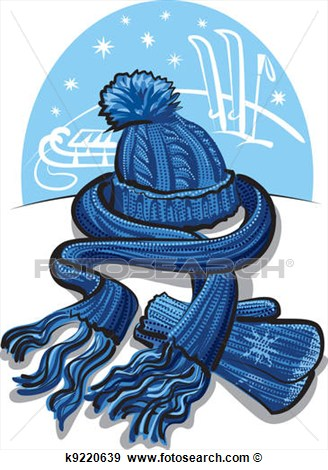 Art   Winter Clothing Wool Scarf Mitten  Fotosearch   Search Clipart